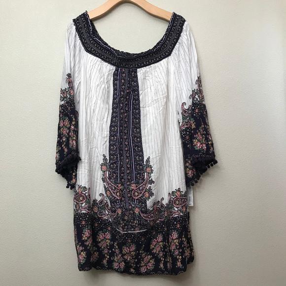 580f412d4ad8 XHILARATION OFF THE SHOULDER FLORAL DRESS